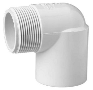 PVC Sch. 40 Street Elbow - 90° Slip by Thread