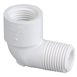 PVC Sch. 40 Street Elbow - 90° Thread by Thread