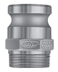 PT Coupling Aluminum Male Adapter