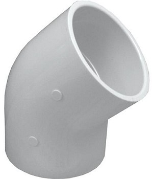 PVC Sch. 40 Elbow - 45° Slip by Slip
