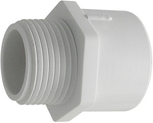 PVC Sch. 40 Male Adapter - Slip by Thread