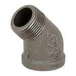 Galvanized Steel Street Elbow - 45°