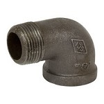 Galvanized Steel Street Elbow - 90°